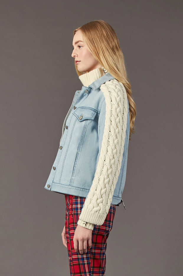 Tanya Taylor Percy Jean Jacket - Side View