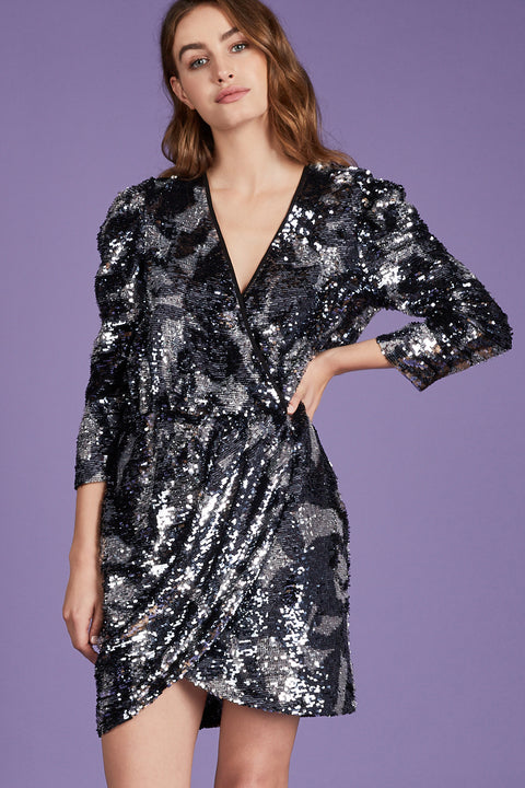 Tanya Taylor Zoey Sequin Dress - Front View