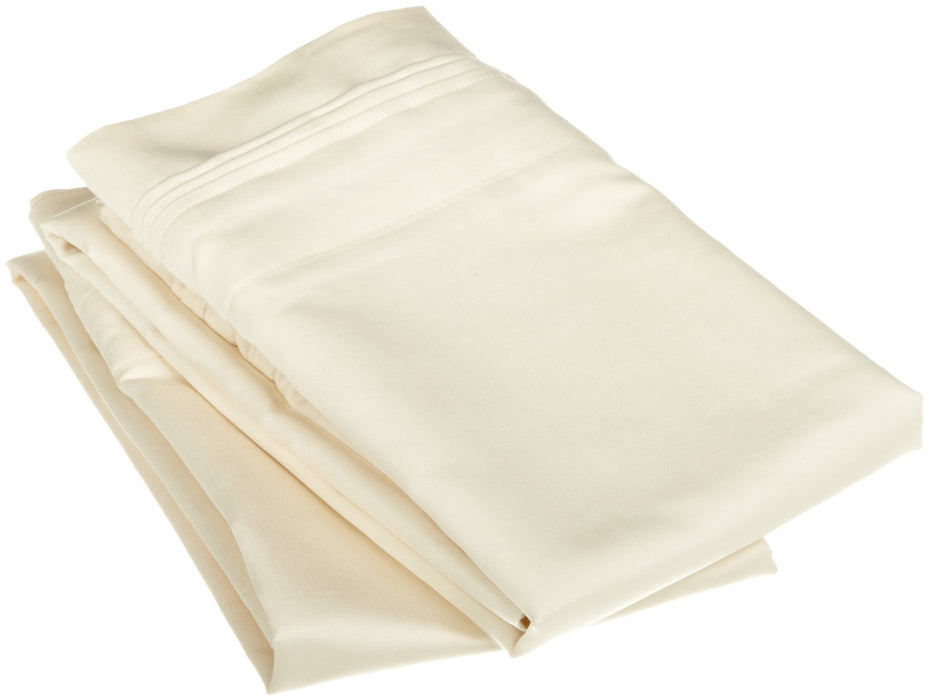 1500-Thread-Count Pillowcases, 100% Egyptian Cotton, 9 Colors