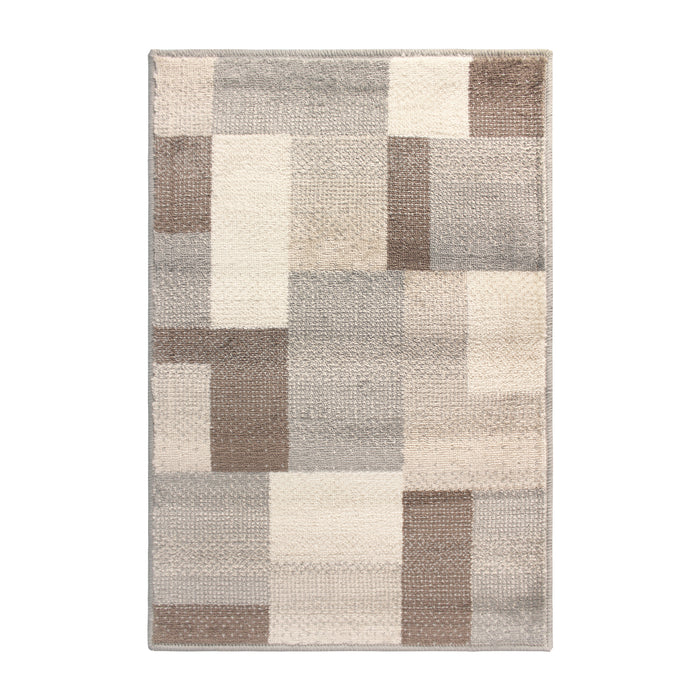 Fiji Geometric Patchwork Contemporary Area Rug
