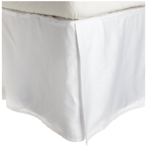 "Striped Bed Skirt 15"" Drop, 300-Thread Count Dust Ruffle, 10 Colors"