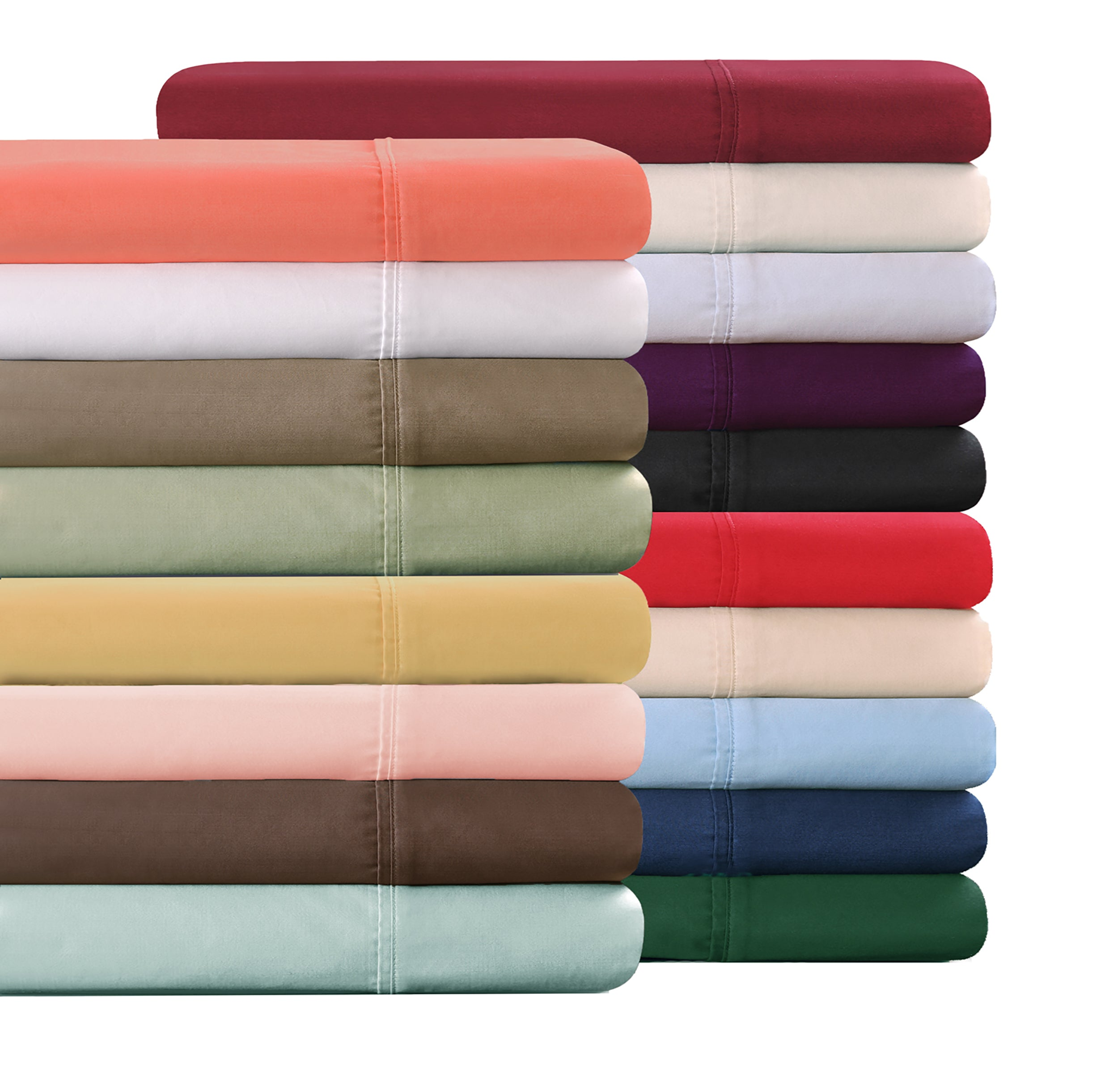 Sateen-Finish Cotton Pillowcase Set