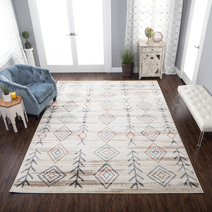Garred Contemporary Southwestern Geometric Indoor Area Rug