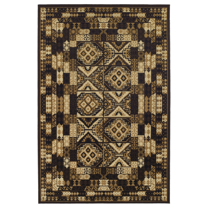 Mosiac Geometric Area Rug, Tribal Design, Contemporary