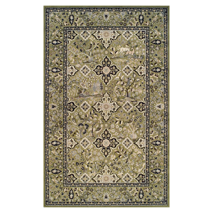 Ulysses Transitional Flora Wildlife Nature Design Area Rug
