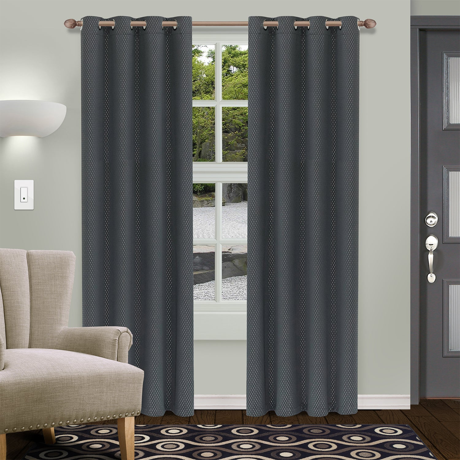 SUPERIOR SHIMMER BLACKOUT 2 PANEL CURTAINS