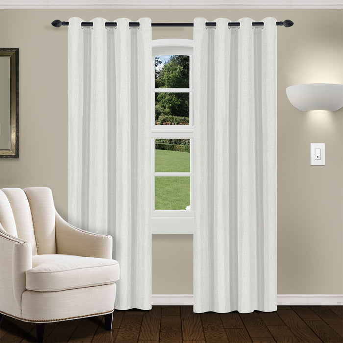 LINEN BLACKOUT 2 PANEL CURTAINS