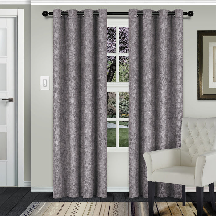 Moana Room Darkening Noise Reducing Thermal Blackout Curtain Set