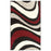 Lahari Shag Area Rug, Bold Wave Design, Retro, Abstract