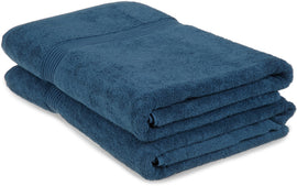 2-Piece Bath Sheet Set, 100% Premium Long-Staple Combed Cotton, 15 Colors - Blue Nile Mills