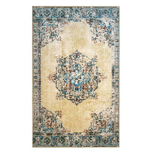 Decklan Area Rug, Oriental, Medallion, Non-Slip, Foam Backing, Vintage
