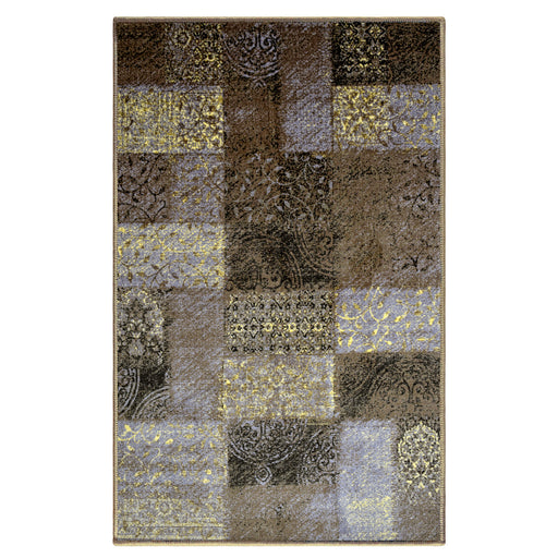 Hadley Area Rug, Patchwork Pattern, Medallion, Damask, Contemporary