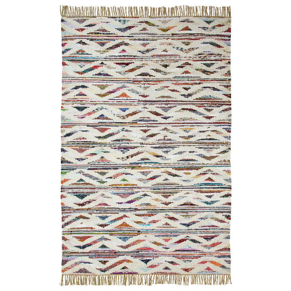 Almeda Handcrafted Southwestern  Area Rug  Made from Recycled Cotton and Wool
