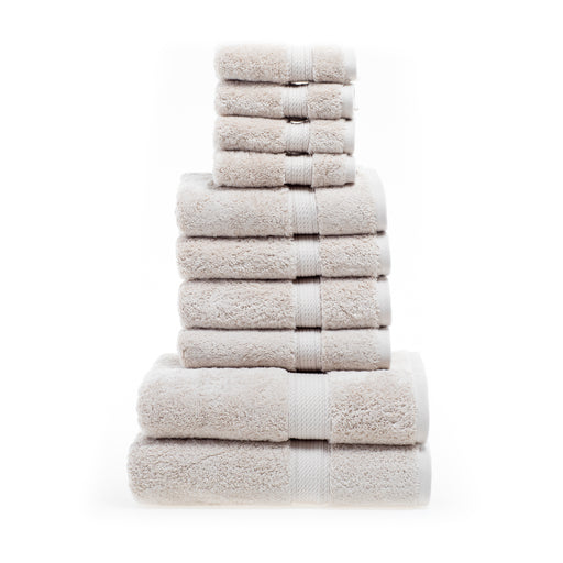 900 GSM Egyptian Cotton Solid 10-Piece Towel Set