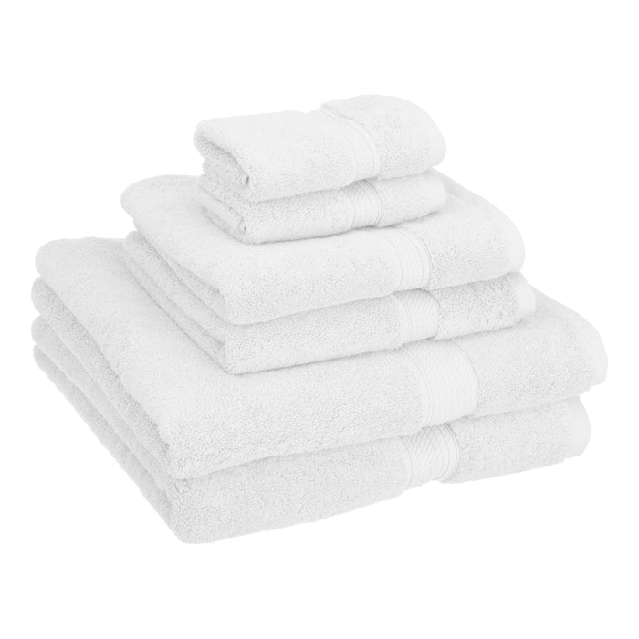 900 GSM Solid Egyptian Cotton 6-Piece Towel Set