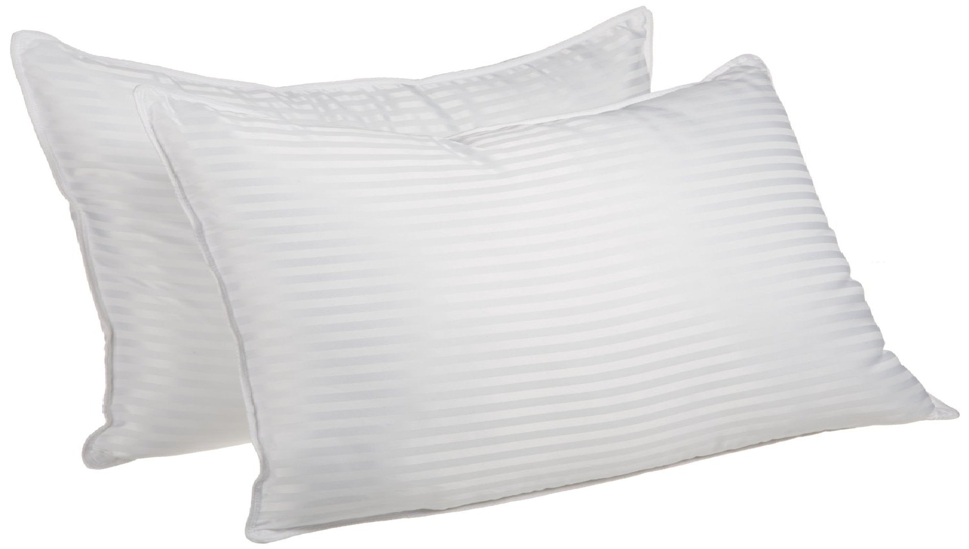 2 Pack Bed Pillows Down Alternative Premium Quality Striped, 2 Sizes - Blue Nile Mills