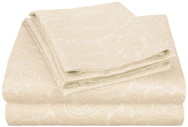 Stylish Italian Paisley Sheet Set With Deep Pocket, 600-Thread-Count, 10 Colors