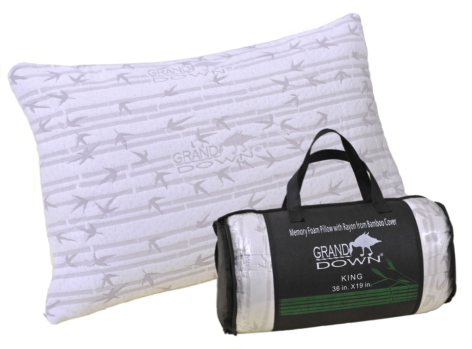 Lanai Shredded Memory Foam Pillow with Removable Rayon from Bamboo Cover