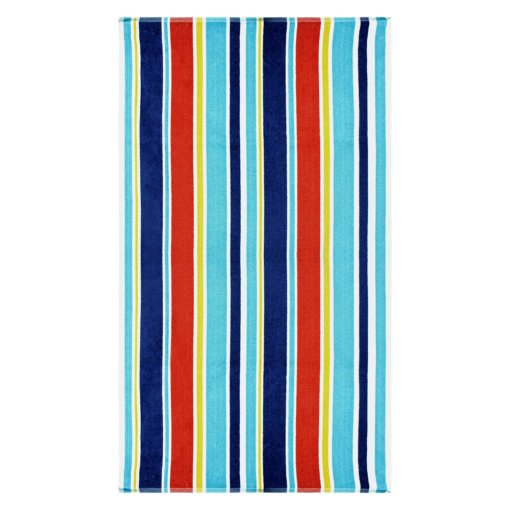 100% Cotton Oceana Stripes Oversized Beach Towel - Blue