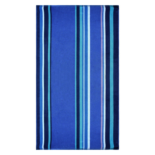 100% Cotton Sefina Stripes Oversized Beach Towel - Blue