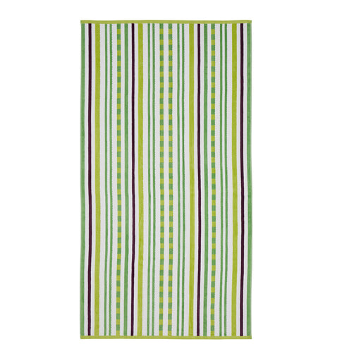 Cotton Stitch Stripe Textured (set of 2) Oversized Beach Towel - Pear
