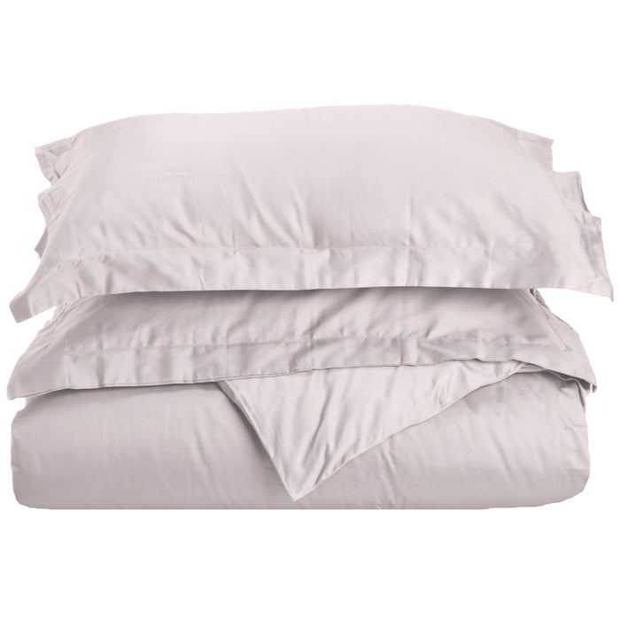 Superior 100% Premium Combed Cotton Solid Duvet Cover Set