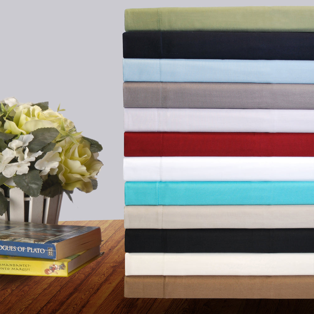 300-Thread-Count Pillowcases, Premium Long-Staple Cotton, 12 Colors