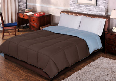 Reversible All-season Down Alternative Comforter, 7 Fashionable Colors - Blue Nile Mills