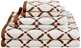 Decorative Diamond 6-Piece Cotton Bath Towel Set