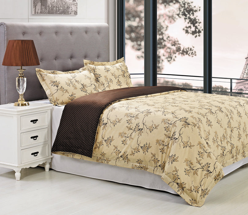 Reversible Duvet Cover Set, 100% Premium Long-Staple Cotton, 18 Designs