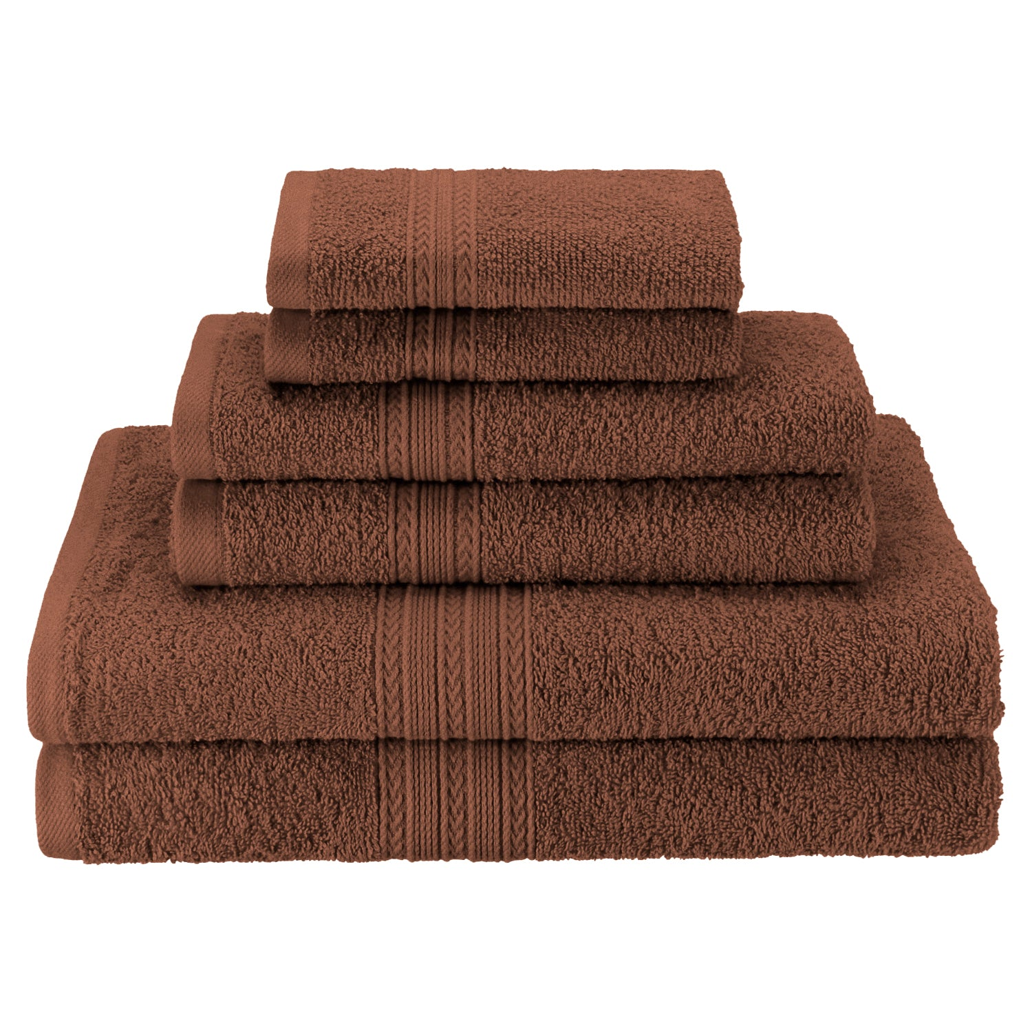 Eco-Friendly 6-Piece Cotton Bath Towel Set