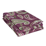 Flannel Paisley Pillowcases, 2-Piece, LightWeight, 5 Colors