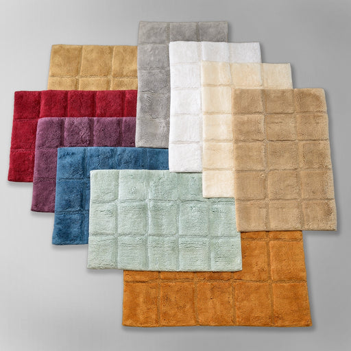 Yew Valley Bath Mats, 100% Combed Cotton, Non-Skid, 2-Pieces