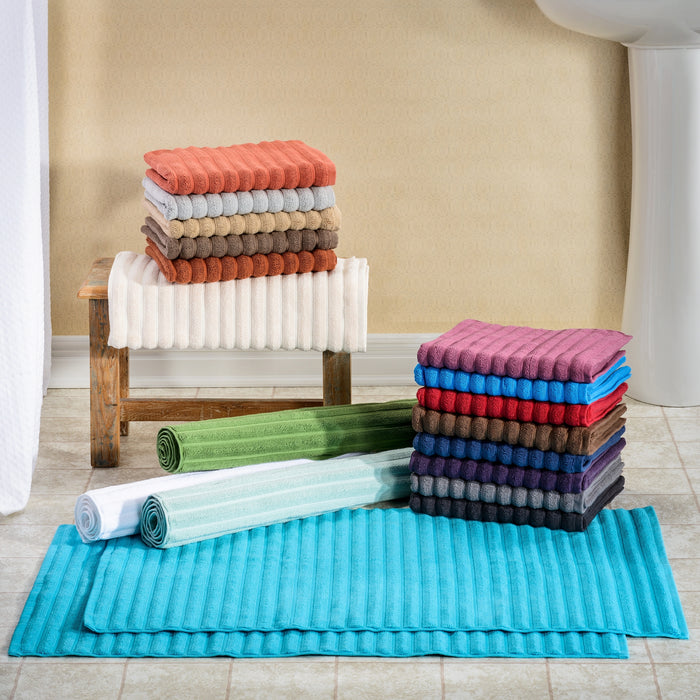 Windswept 100% Cotton Bath Mats, Hotel Quality, 900 GSM, 2-Pieces