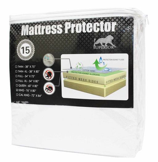 Highgate Hypoallergenic 100% Waterproof Backing Breathable Noiseless Mattress Protector