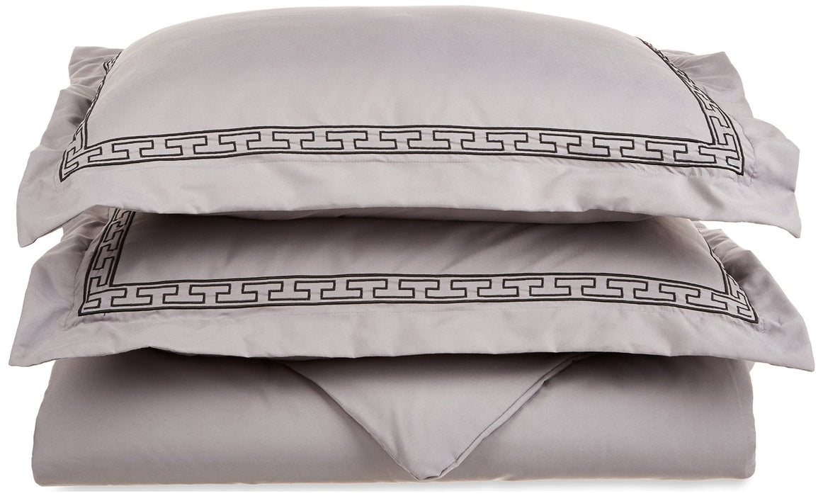 Duvet Cover Set With Pillow Shams, Embroidered REGAL Design, GIFT BOX