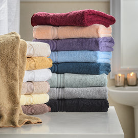 6-Piece Towel Set, 100% Premium Long-Staple Combed Cotton, 15 Colors