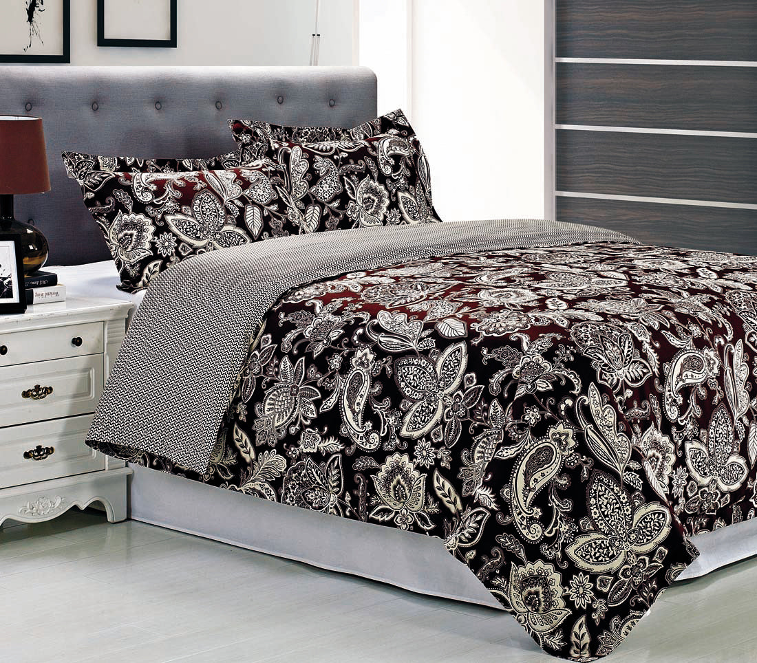 OVERBROOK Duvet Cover Set With Pillow Shams, 300-Thread Cotton, SINGLE PLY