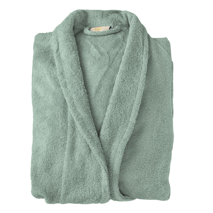 100% Premium Cotton Unisex Terry Bathrobe For Woman and Man, Soft SPA Robes