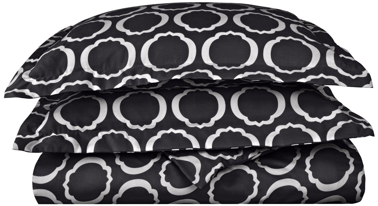 Bloomsbury 600-Thread Count Cotton-Rich Wrinkle-Resistant Scroll Park Duvet Cover Set