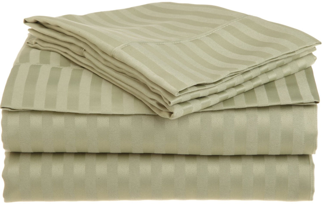 Wrinkle-Resistant Striped Microfiber Sheet Set