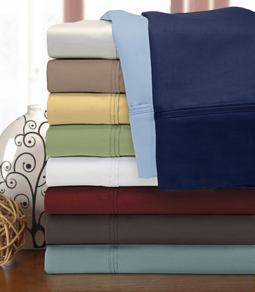 1200-Thread-Count Pillowcases, Premium Long-Staple Cotton, 9 Colors