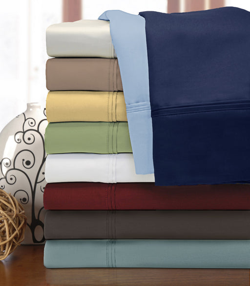 1200-Thread-Count Pillowcases,100% Egyptian Cotton, 9 Colors