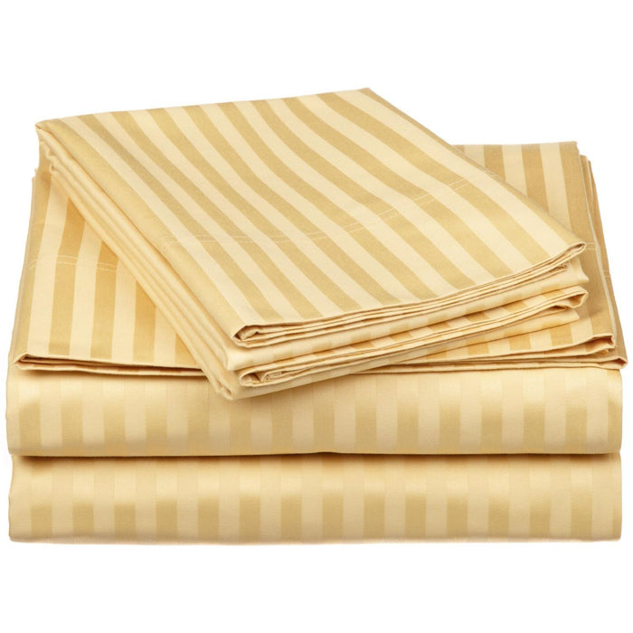 Striped Combed Cotton Bed Skirt, 300-Thread-Count, 17 Colors