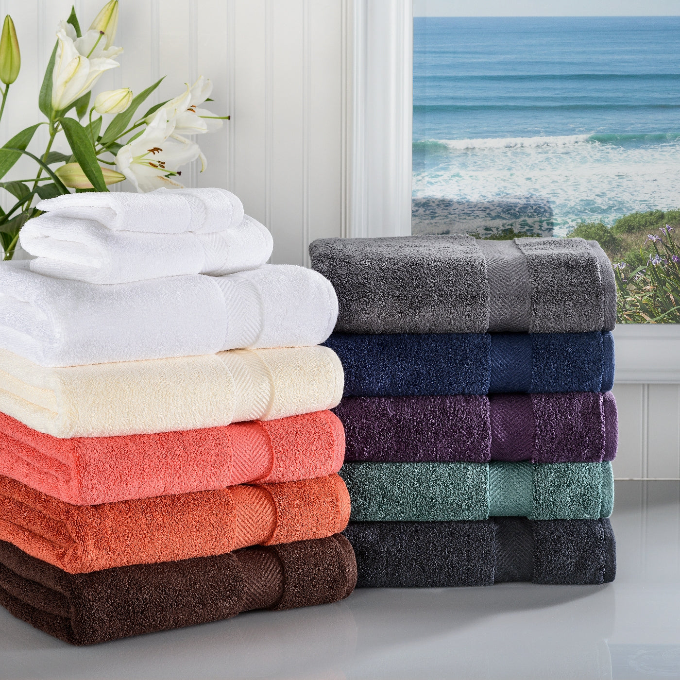 Zero-Twist Cotton 3-Piece Bath Towel Set