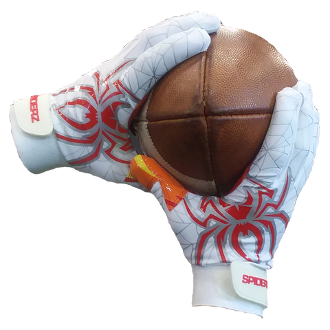 Spiderz Red Hot RAW Football Gloves