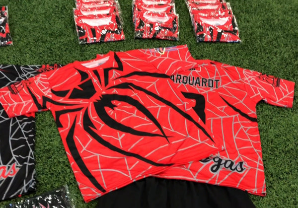 *Pre-Order* Spiderz Full Dye Jersey Buy In - Red/Black/Silver