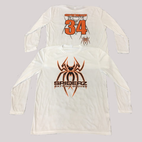Spiderz Custom BP Long Sleeve Jersey- Black/Orange