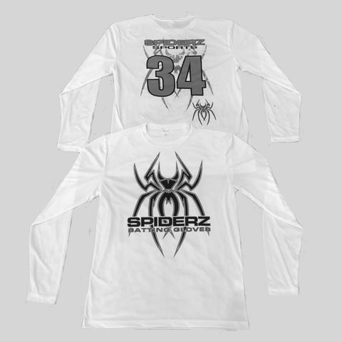 Spiderz Custom BP Long Sleeve Jersey- Black/Silver