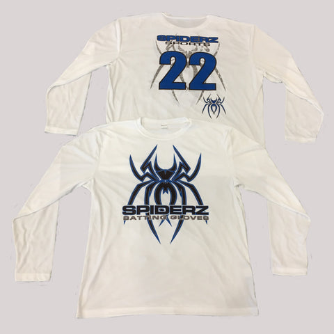 Spiderz Custom BP Long Sleeve Jersey- Royal Blue/Black